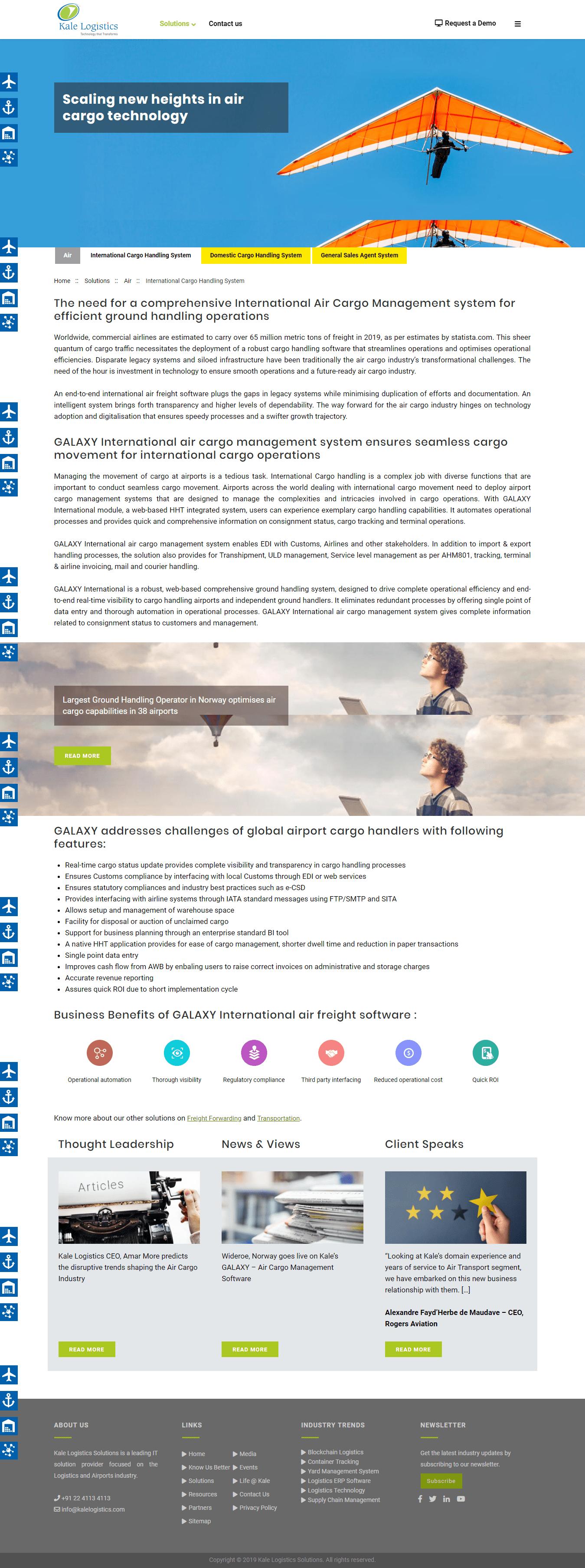 Kale Logistics - Infiyug Technologies